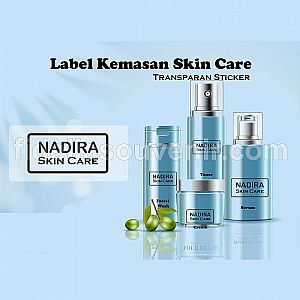 Label Kemasan Botol Skin Care